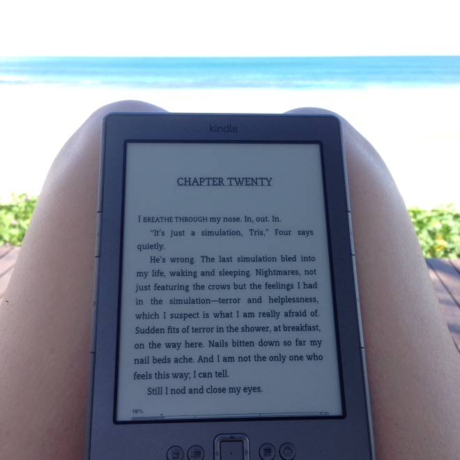 Reading by the beach is LOVE LOVE LOVE!