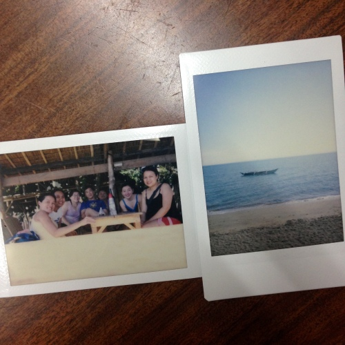 Instax by Neo 90, a group shot and our view of the Donsol sea while waiting for our transfer.